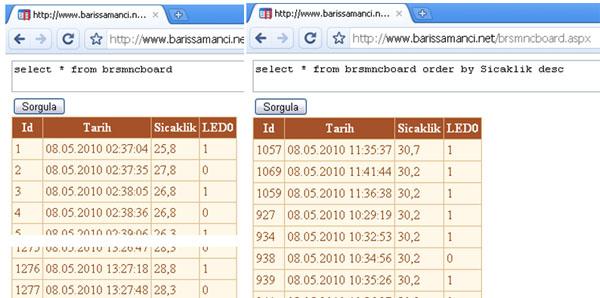 brsmnc - internet veritabanı uygulaması ekran görüntüsü