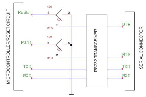 arm7 lpc2000 işlemcileri flashmagic reset devresi