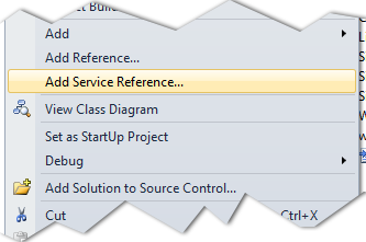 add service Reference