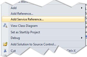 add service Reference