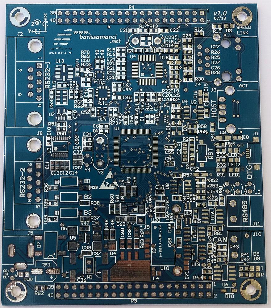 blue soldermask